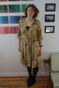 Mustard-Dress
