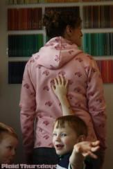P450-Pink Flower Hoodie-2