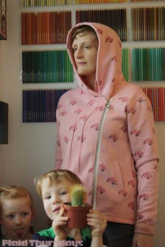 P450-Pink Flower Hoodie-3